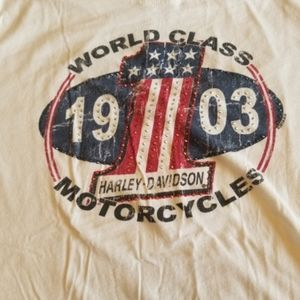 White Harley Davidson tshirt